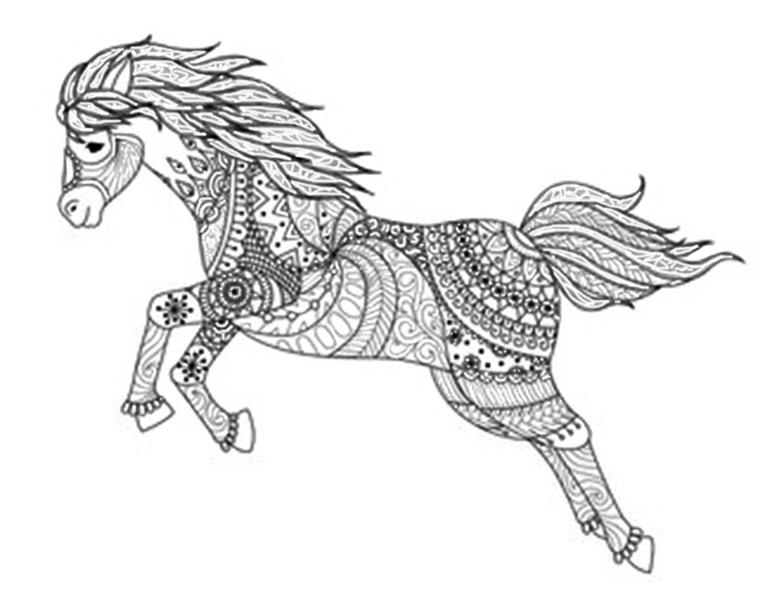 Malvorlagen Erwachsene Pferde 2