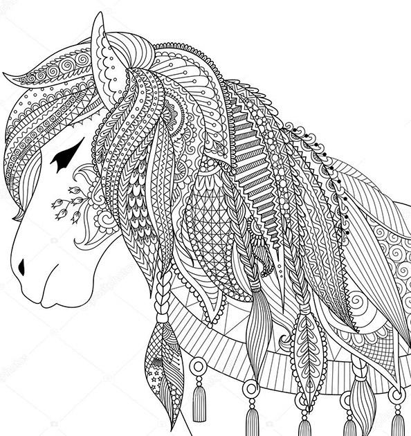 Pferde 3 | Ausmalbilder für Erwachsene