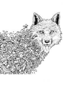 Malvorlagen Erwachsene Wolf 1