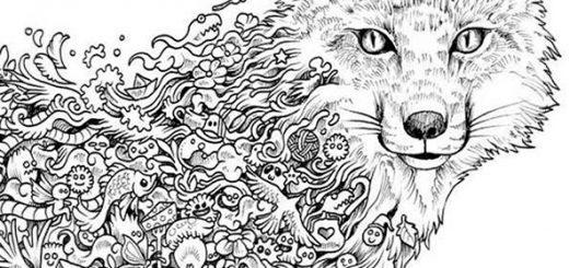 Wolf 7 | Ausmalbilder für Erwachsene
