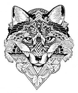 Malvorlagen Erwachsene Wolf 2