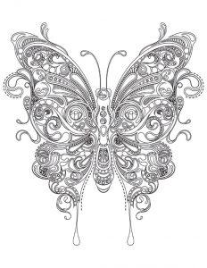 Ausmalbilder Erwachsene Schmetterling 1