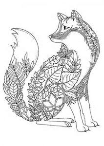 Ausmalbilder Schwierige Fuchs 1