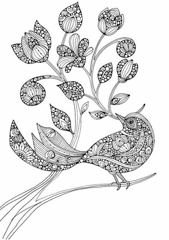 Blumen und vogel 1