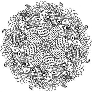 Mandala mit Blumen für Erwachsene 2