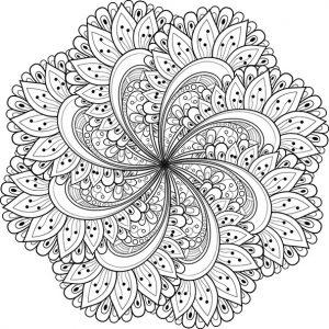Ausmalbilder Mandala 2 mandalas für Erwachsene