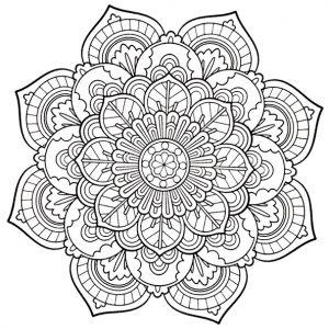 Ausmalbilder Mandalas für Erwachsene 4