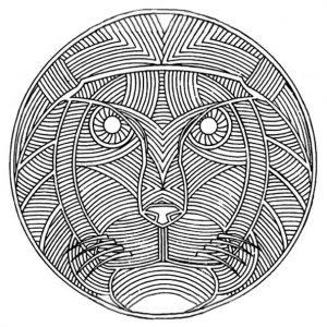 Mandala mit Löwe für Erwachsene 5