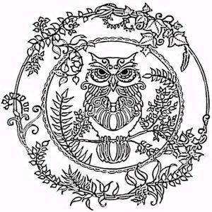 Malvorlagen Erwachsene Mandala Eule 9