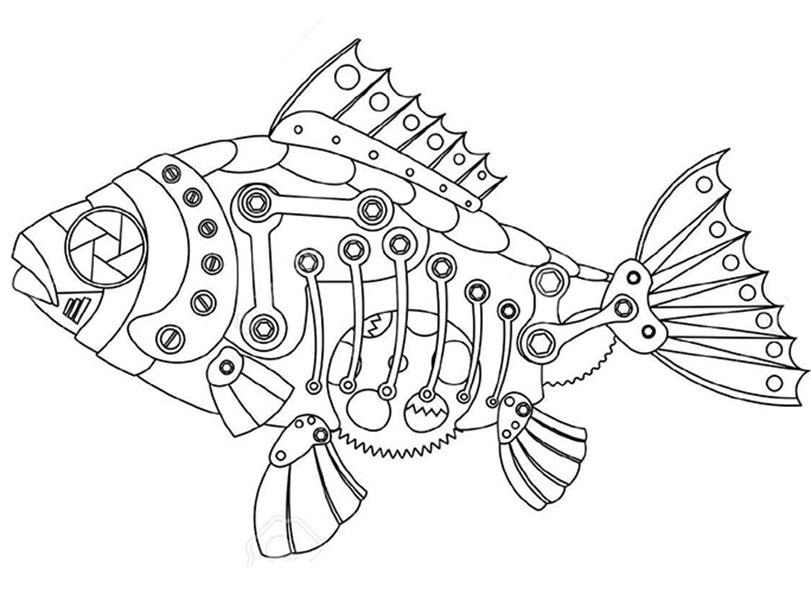 Fische 1 ausmalbild Erwachsene