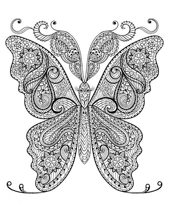 Schmetterling 2 | Ausmalbilder für Erwachsene