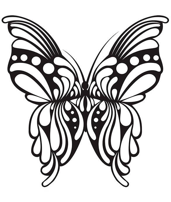 Malvorlagen Erwachsene Schmetterling 5