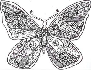 Malvorlagen Erwachsene Schmetterling 9