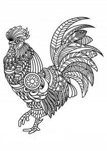 Malvorlagen Erwachsene Schwierige Vogel 7