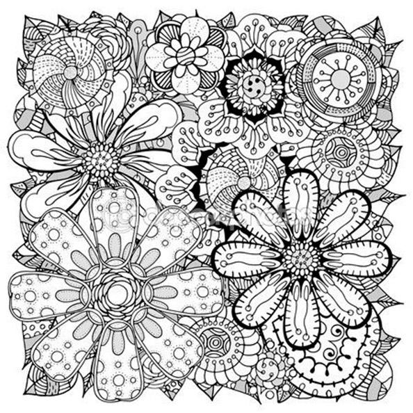 Malvorlagen Erwachsene Blumen 2