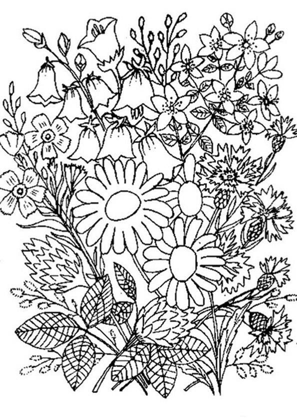 Bilder zum ausmalen Erwachsene Blumen 3