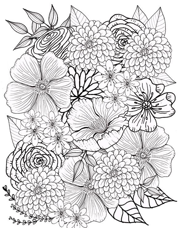 Blumen 4 Ausmalbilder Fur Erwachsene