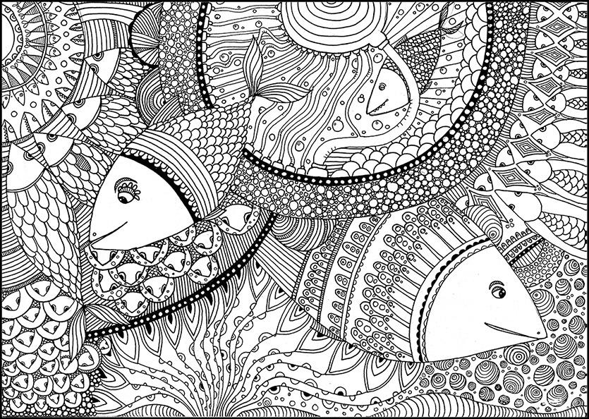 Fisch 2 Ausmalbilder Für Erwachsene