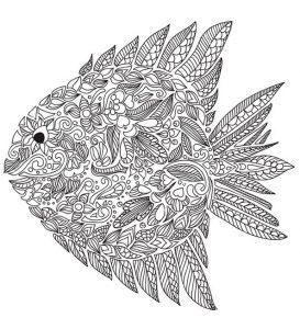 Schwierige ausmalbilder Fisch 3