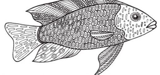 Schwierige ausmalbilder Fisch 5