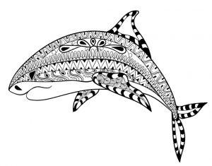 Schwierige ausmalbilder Fische 6