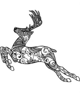 Malvorlagen Erwachsene Hirsch 9