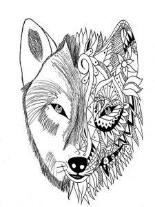 ausmalbilder-erwachsene-wolf_03 | ausmalbilder für erwachsene