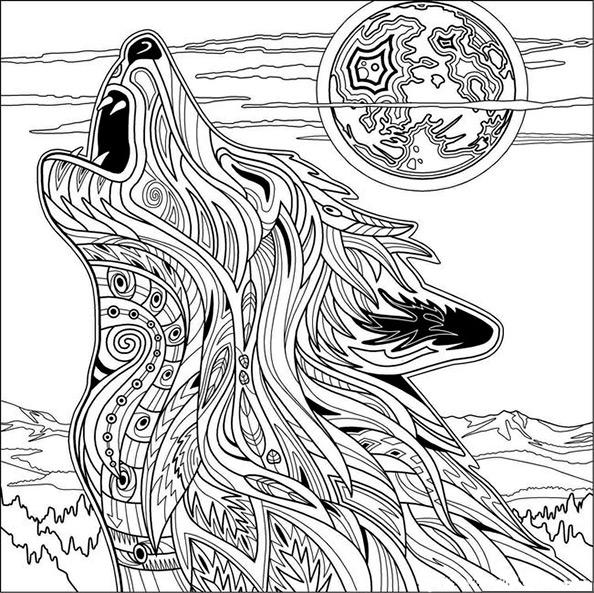 Wolf 5 | Ausmalbilder für Erwachsene