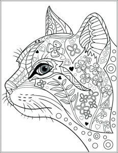 Ausmalbilder Erwachsene Katze 5