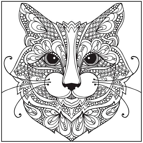 Katze 6 | Ausmalbilder für Erwachsene
