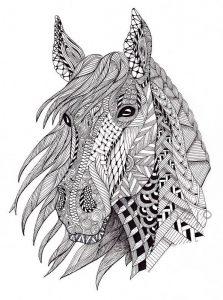 Malvorlagen Erwachsene Pferde 5