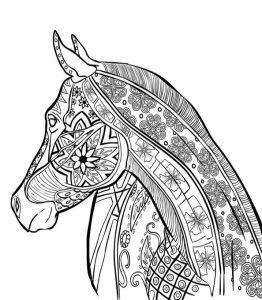 Malvorlagen Erwachsene Pferde 6
