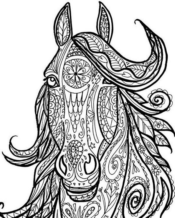 Malvorlagen Erwachsene Pferde 7
