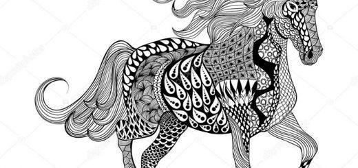 Malvorlagen Erwachsene Pferde 9