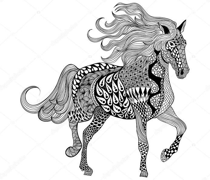 Pferde 9 Ausmalbilder Fur Erwachsene