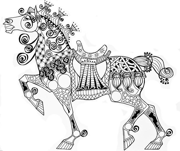 Malvorlagen Erwachsene Pferde 12