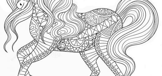 Malvorlagen Erwachsene Pferde 15