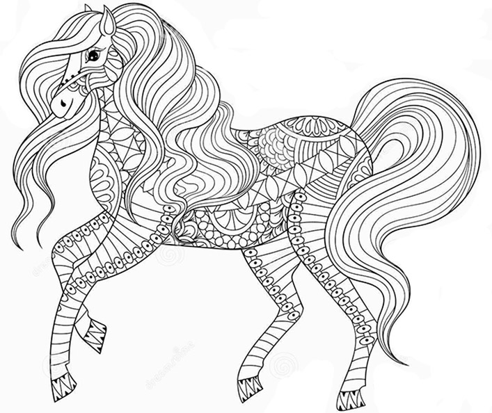 pferde 15  ausmalbilder für erwachsene