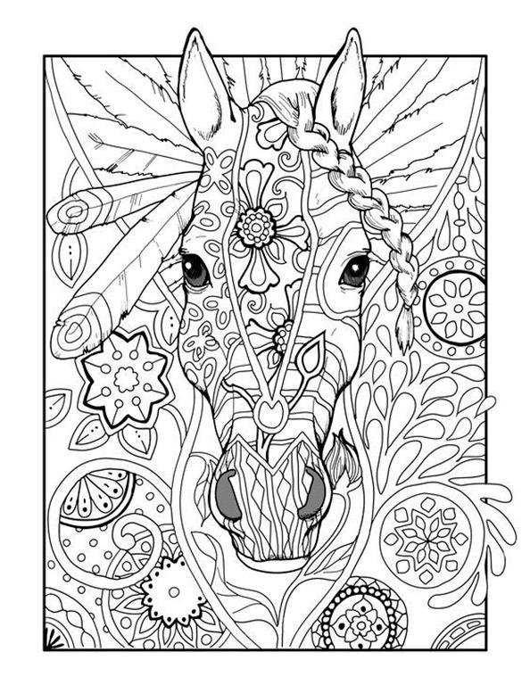 Pferde 16 | Ausmalbilder für Erwachsene