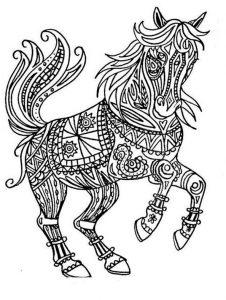 Malvorlagen Erwachsene Pferde 18