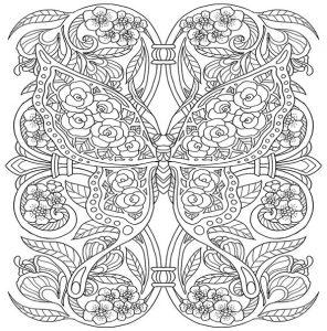 Malvorlagen Erwachsene Schmetterling 12