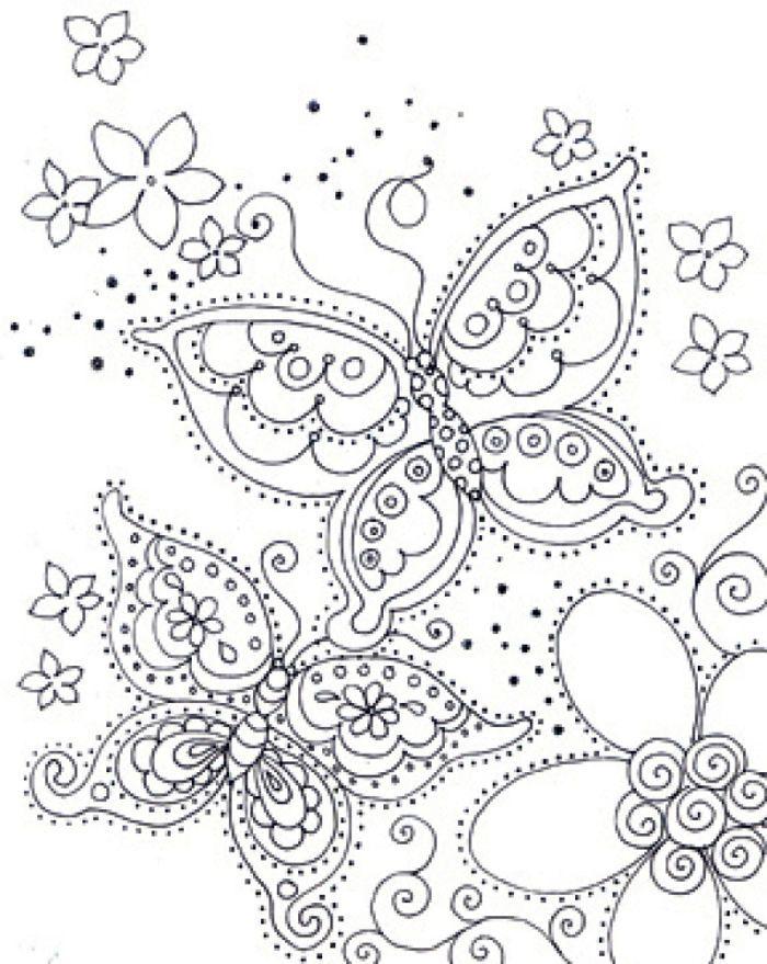 Schmetterling 14 | Ausmalbilder für Erwachsene