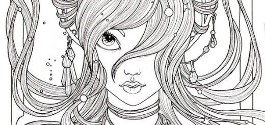 Malvorlagen Gesicht einer Frau 5