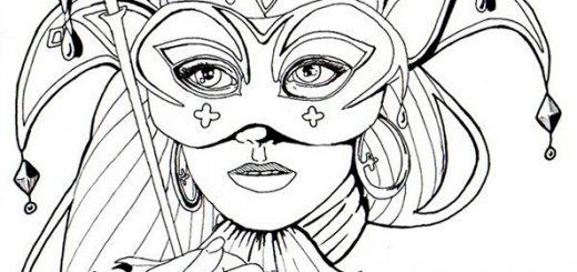 Malvorlagen für Erwachesene Gesicht einer Frau 8