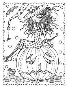 Ausmalbilder für Erwachsene Halloween, Bild 11