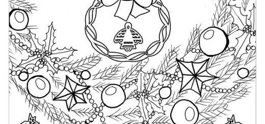 Malvorlagen Erwachsene Weihnachten, Bild 15