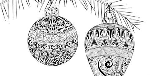 Malvorlagen für Erwachsene Weihnachten. Bild 2