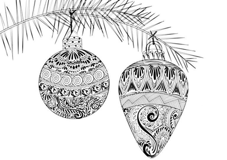 weihnachten 2  ausmalbilder für erwachsene