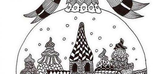 Malvorlagen Erwachsene Weihnachten. Bild 4
