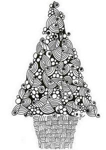 Ausmalbilder Erwachsene Weihnachtsbaum. Bild 8